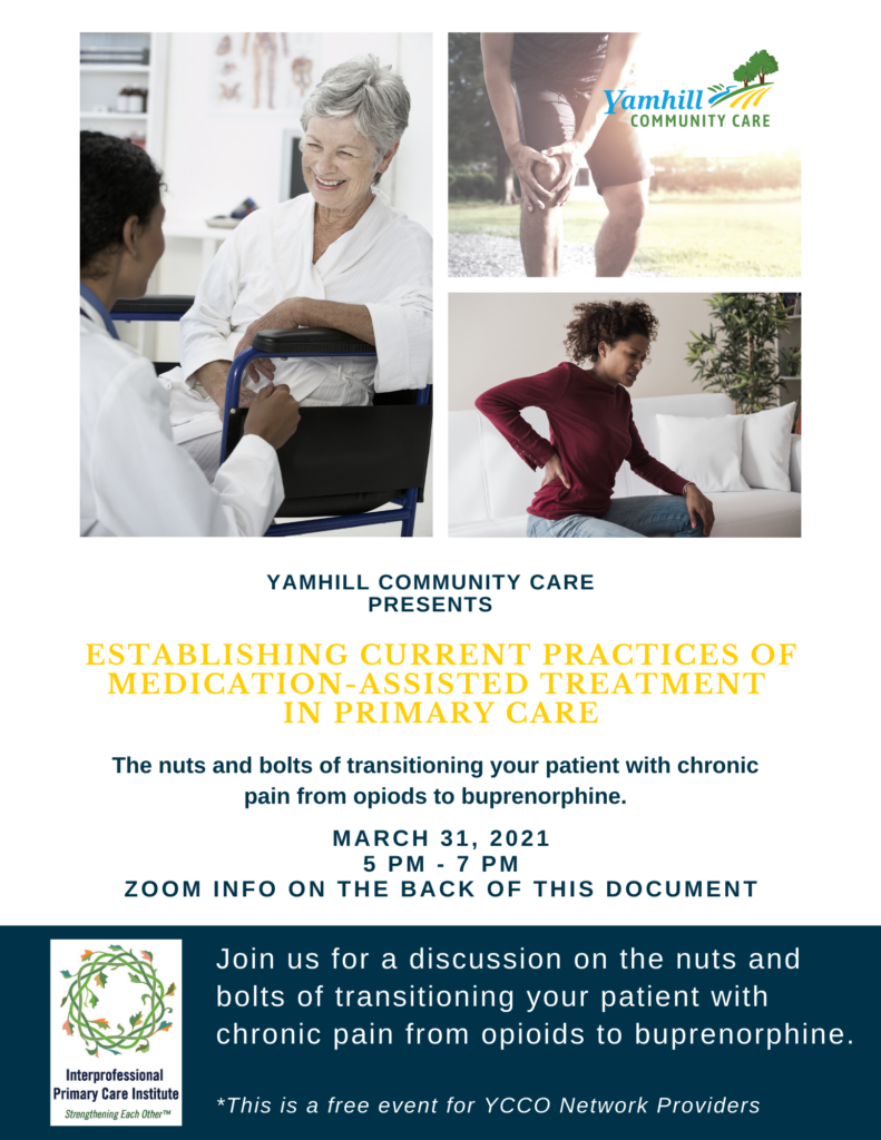 Yamhill Community Care Provider Network Educational Event.